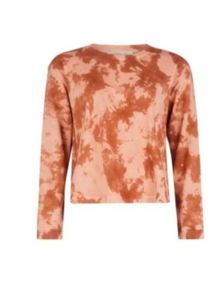 Isla Ibiza Bonita Short Oversized Tie Dye Sweater Mix Terra