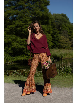 Hot Lava Blouse Jamie Wood / Bronzen Beads