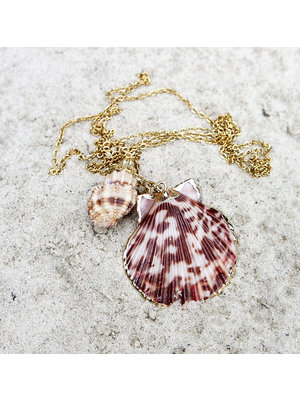 Hot Lava Necklace Capri 2 Shells