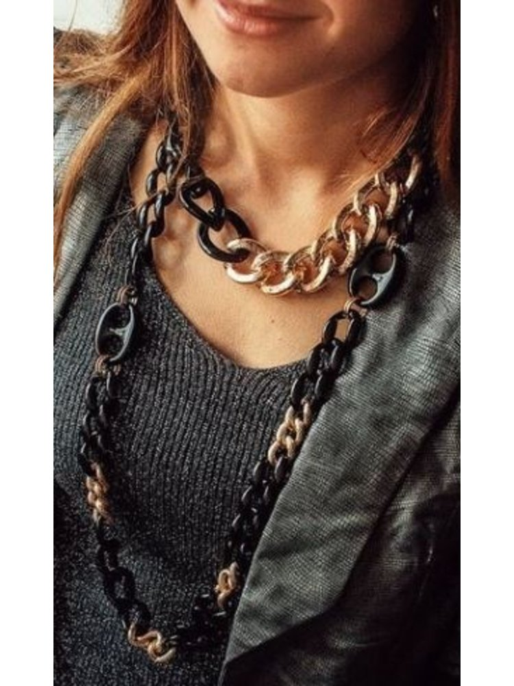 Sweet 7 Necklace Chain Fey long Brown