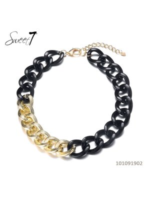 Sweet 7 Necklace Chain Fey Short Black