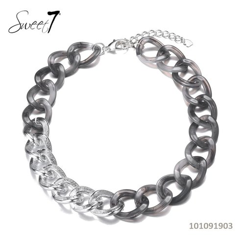 Sweet 7 Necklace Chain Fey Short - Grey