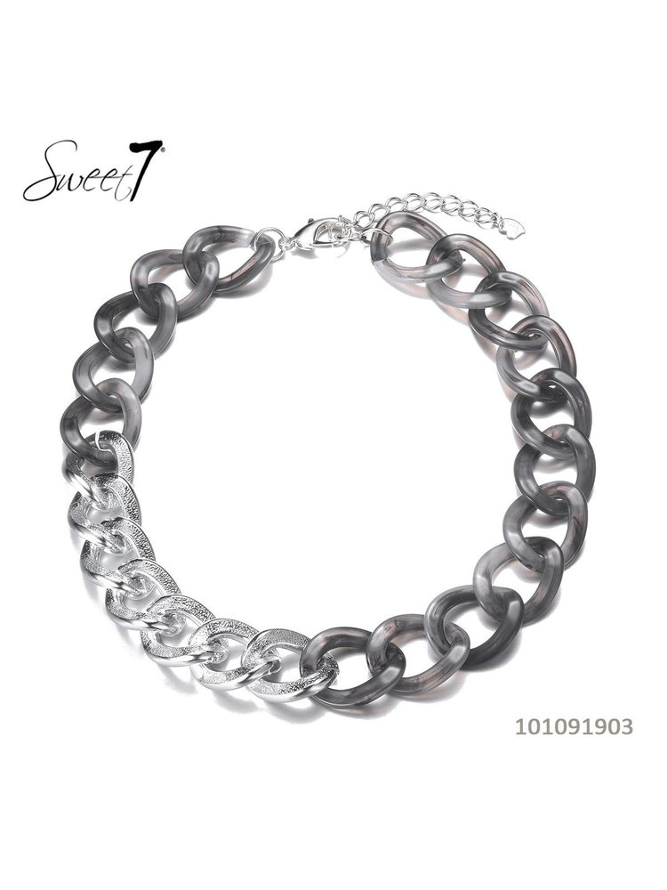 Sweet 7 Necklace Chain Fey Short Grey