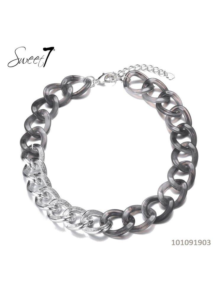 Sweet 7 Necklace Chain Fey Short Grijs