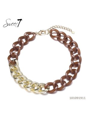 Sweet 7 Necklace Chain Fey Short Brown