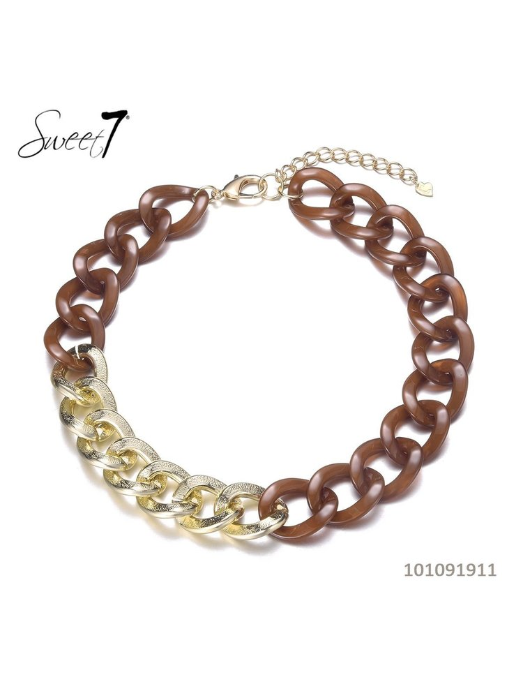 Sweet 7 Necklace Chain Fey Short Bruin