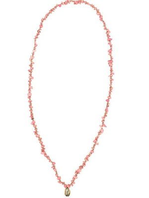 Hot Lava Necklace Indy Golden Shell Long  Coral