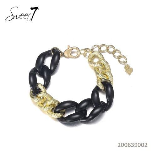 Sweet 7 Chain Bracelet Fey  Black