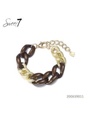 Sweet 7 Chain Bracelet Fey  Brown