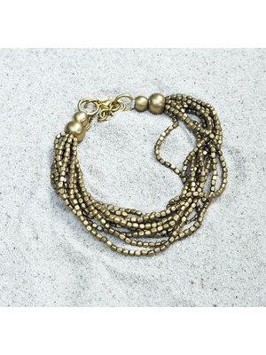 Hot Lava Bracelet Golden Beads 1