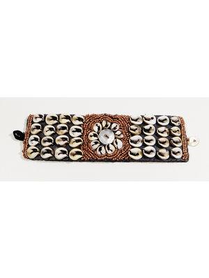 Hot Lava Bracelet Flower Shell Brown