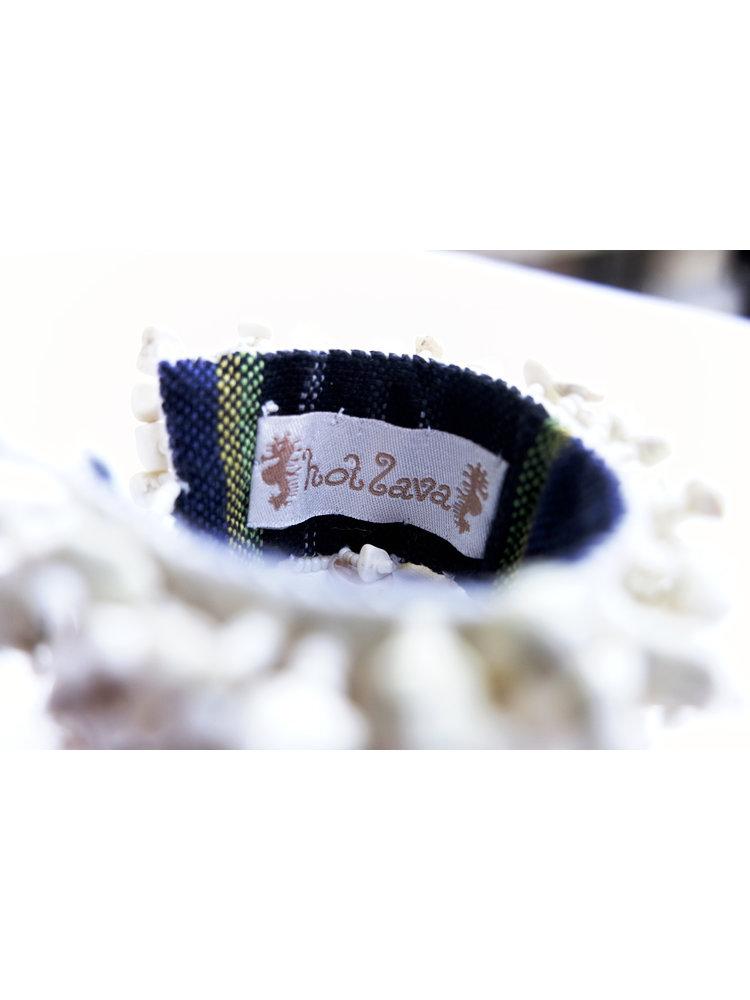 Hot Lava Armband Shell & Stone  Bleu