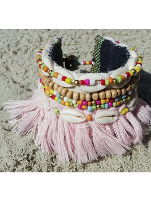 Hot Lava Bracelet Hippie Girl     Pink