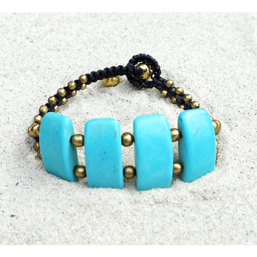 Hot Lava Bracelet Turquoise & Gold 1