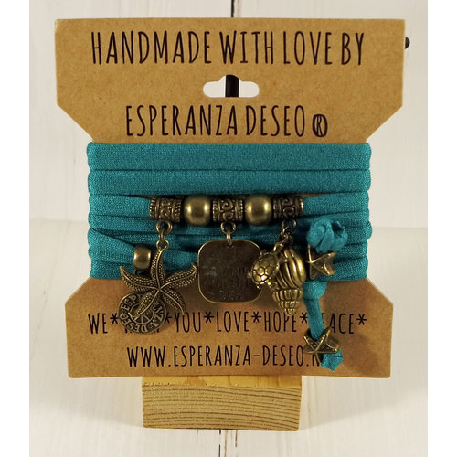 Esperanza Deseo Collor Off The Sea Bracelets & Charms Sea Green