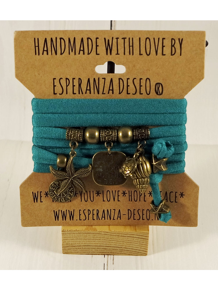 Esperanza Deseo Collor Off The Sea Bracelets & Charms Sea Green