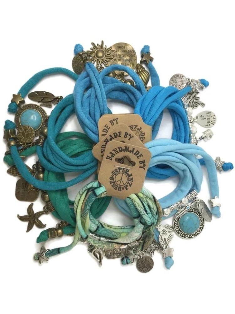 Esperanza Deseo Collor Off The Sea Bracelets & Charms Dark Turquoise