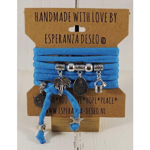 Esperanza Deseo Collor Off The Sea Bracelets & Charms - Caribean Bleu