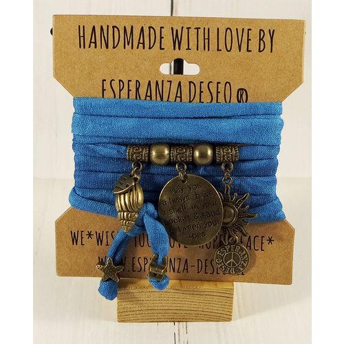 Esperanza Deseo Collor Off The Sea Bracelets & Charms Caribean Bleu Tie-Dye