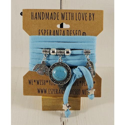 Esperanza Deseo Collor Off The Sea Bracelets & Charms Light Turquoise
