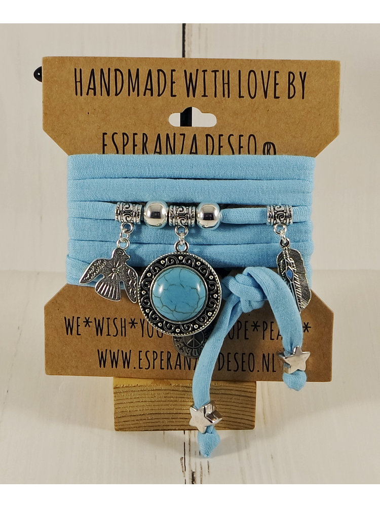 Esperanza Deseo Collor Off The Sea Bracelets & Charms Light Turquoise