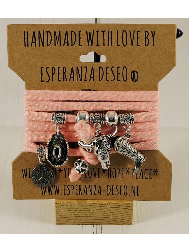 Esperanza Deseo Neon Bracelet Silver Charms Salom