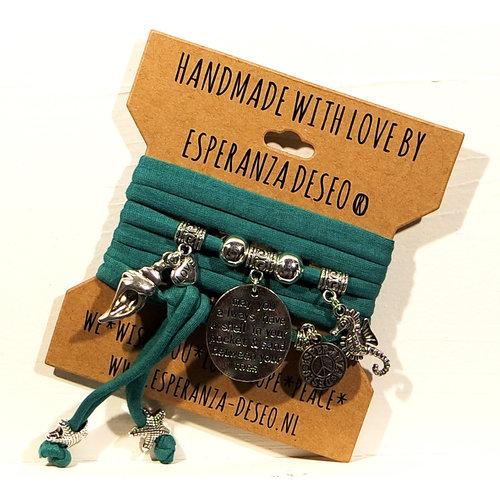 Esperanza Deseo Emerald green Theme bracelets mix off Sea