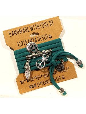 Esperanza Deseo Emerald green Theme bracelets mix off Peace