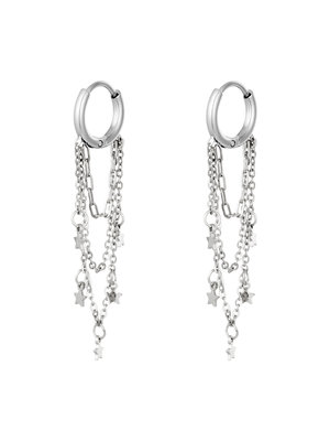 J.Y.M. Earrings with Chain and Charms  Star