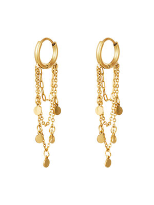 J.Y.M. Earrings with Chain and Charms  Garlands