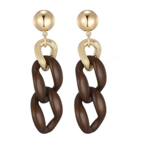 Sweet 7 Chain Earring Fey Brown