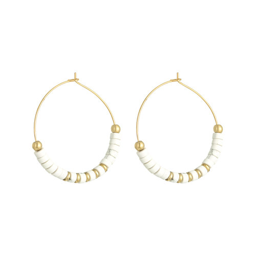 J.Y.M. Oorbellen Beaded Hoops
