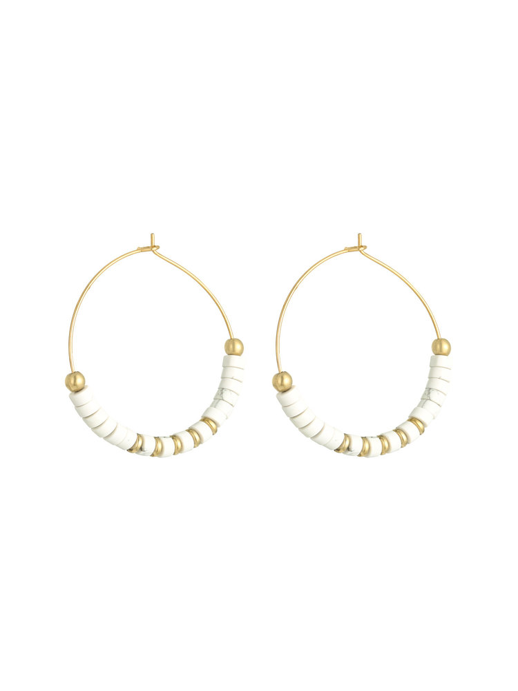 J.Y.M. Earrings Beaded Hoops