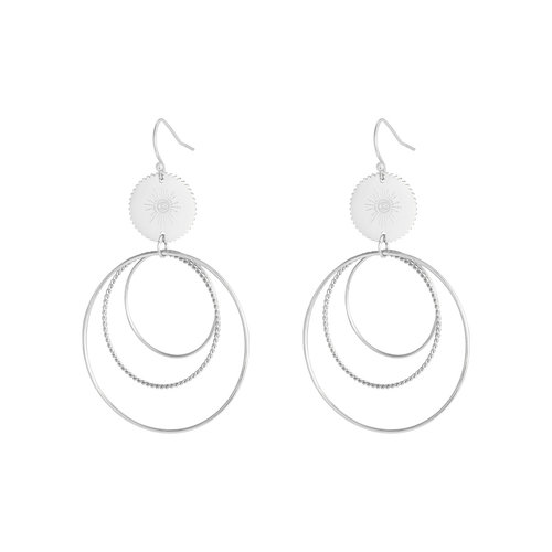 J.Y.M. Namaste Earrings Silver