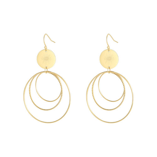 J.Y.M. Namaste Earrings - Gold