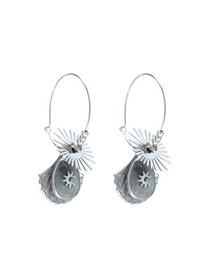 J.Y.M. Earrings Shelly Black