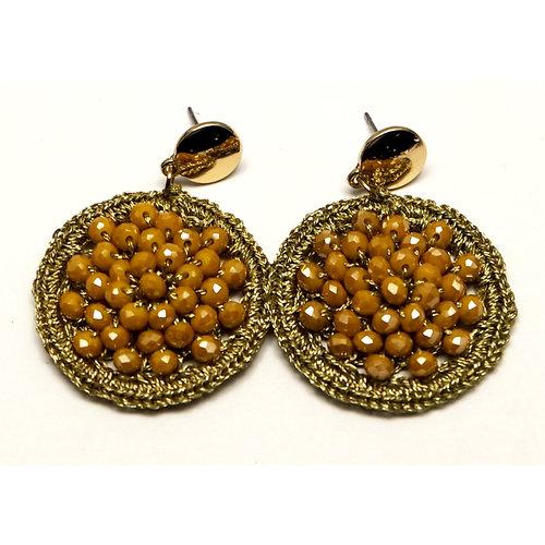 J.Y.M. Earrings Round Crystal Beads