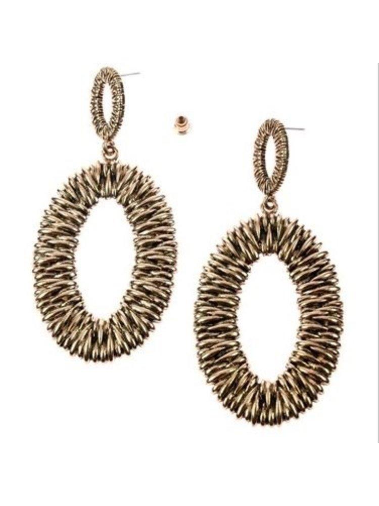 J.Y.M. Earrings Munch Gold