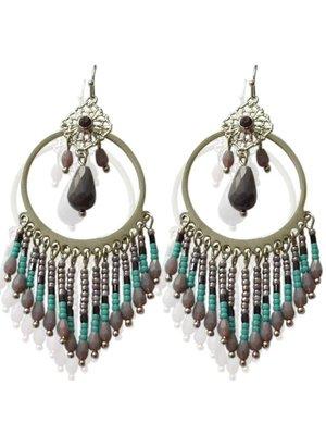 J.Y.M.  Earrings Chi Purple