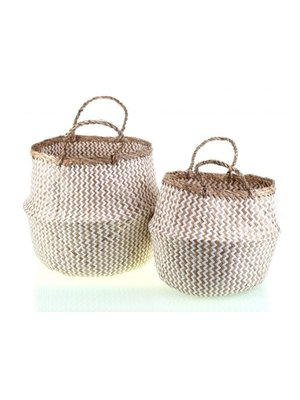 Kbas Braided baskets set wit