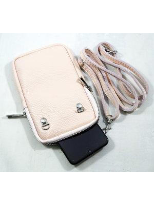 Wauw Bijoux Leren telefoon tasje Catalina Pink
