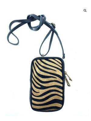 Wauw Bijoux Phone bag Ben Zebra Bruin