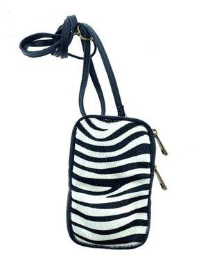 Wauw Bijoux Phone bag Ben Zebra wit