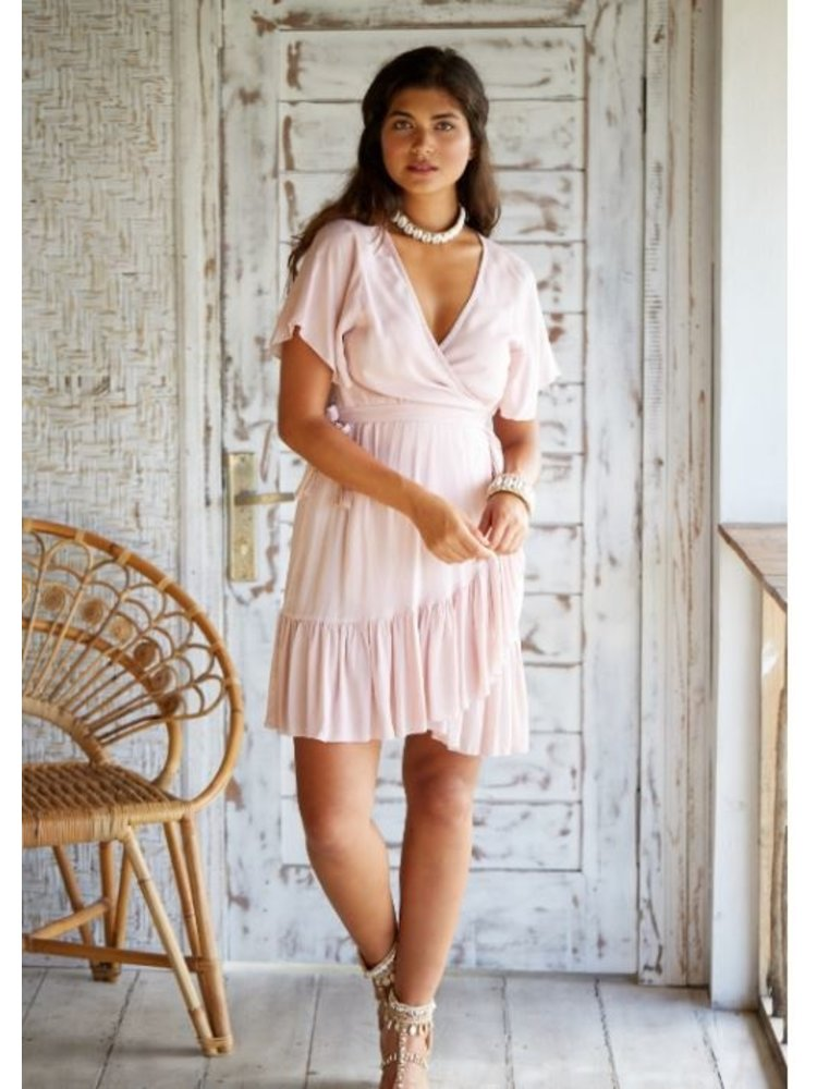 Hot Lava Wrap Dress Dani Powder Pink