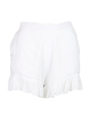 Hot Lava Short Ruffle white