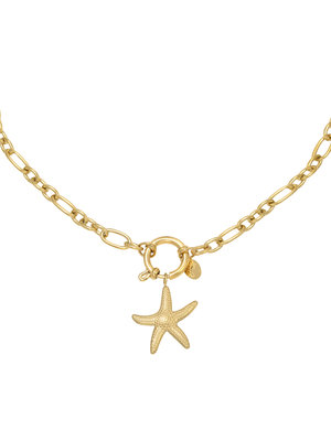 J.Y.M. Necklace Starfish Gold
