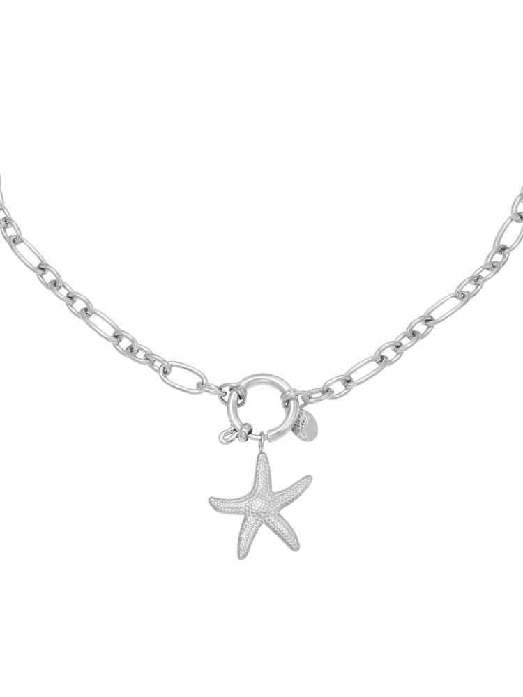 J.Y.M. Necklace Starfish silver