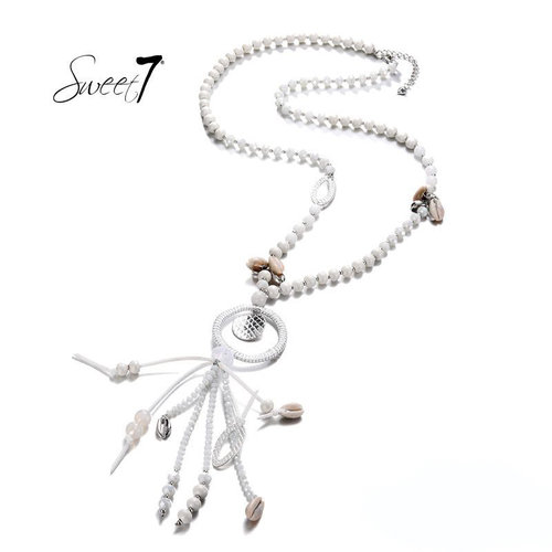 Sweet 7 Necklace Mira White