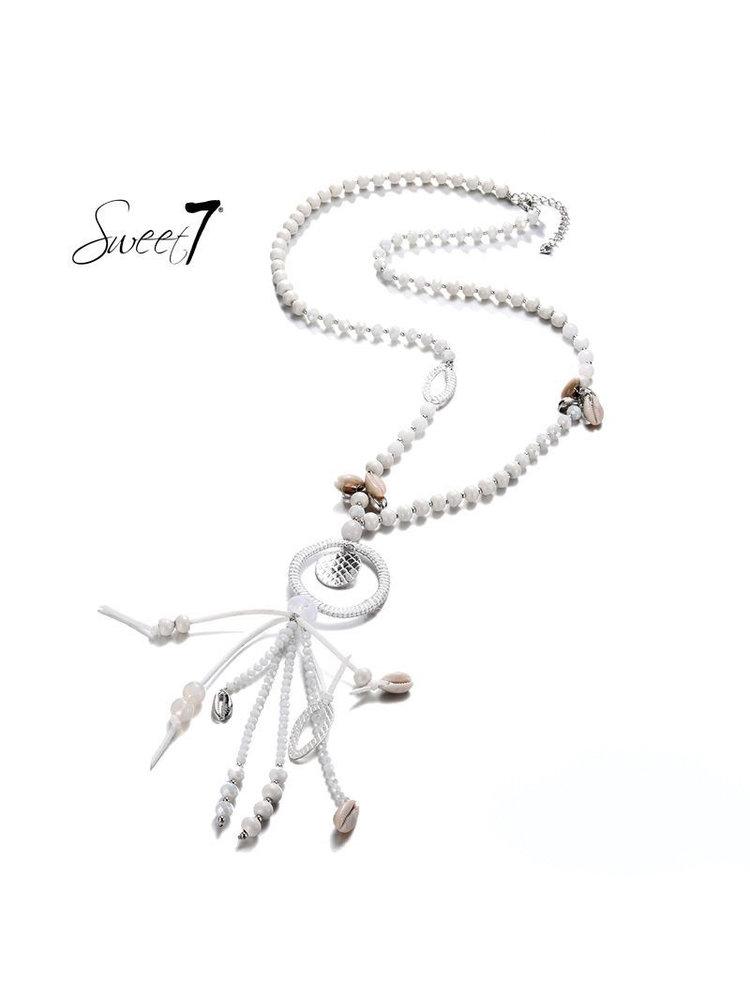 Sweet 7 Necklace Mira White