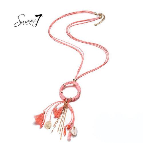 Sweet 7 Necklace Kiki  Pink